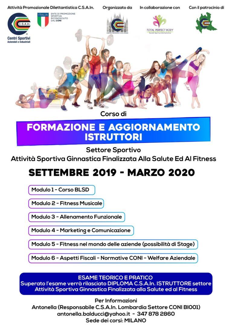CORSO DI FORMAZIONE E AGGIORNAMENTO ISTRUTTORI FITNESS